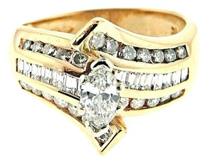 BELOW WHOLESALE PRICE - 14K Gold & 1&1/6 ct diamond ring wedding engagement bridal set