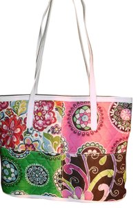 Vera Bradley Satchel in fuschia, green black