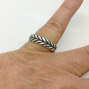 David Yurman size 9.5, sterling silver, chevron, unisex ring / band