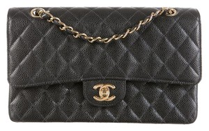 Chanel Classic Flap Caviar 2.55 Double Flap Shoulder Bag