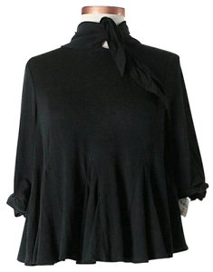 3.1 Phillip Lim Cropped Oversized Tie Top *NWT* Black