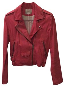 IRO Pink Leather Jacket