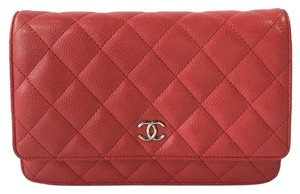 Chanel Quilted Woc Caviar Cross Body Bag