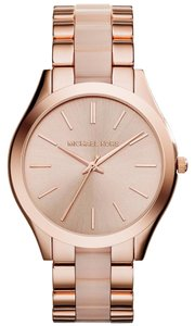 Michael Kors MICHAEL KORS MK4294 SLIM RUNWAY ROSE GOLD & BLUSH WOMEN'S WATCH