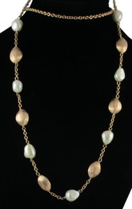 """Honora Honora Cultured Pearl 24"""" 7.0mm Baroque Bronze Nugget Station Necklace"""