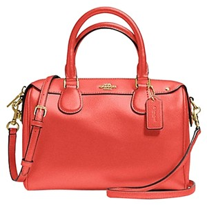 Coach Bennett Carmine Cross Body Satchel in Carmine orange