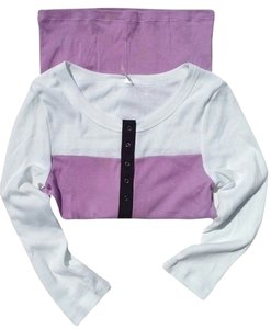 Victoria's Secret Top Colorblock Lavender