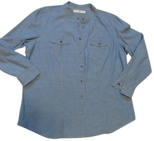 Tommy Hilfiger Jean Snaps Long Sleeve Top Chambray