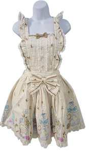 Angelic Pretty short dress Cream Multi on Tradesy