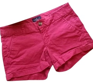 American Eagle Outfitters Cuffed Shorts Red