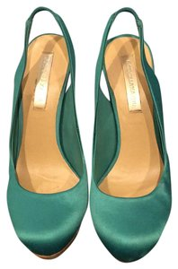BCBGMAXAZRIA Teal Sea Foam Green Platforms