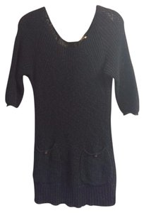 Free People short dress Navy Crochet Knit on Tradesy
