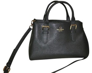 Kate Spade Provence Cove Street Handbag Saffiano Leather Satchel in Black