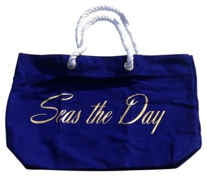 Trina Turk Navy, Gold Beach Bag
