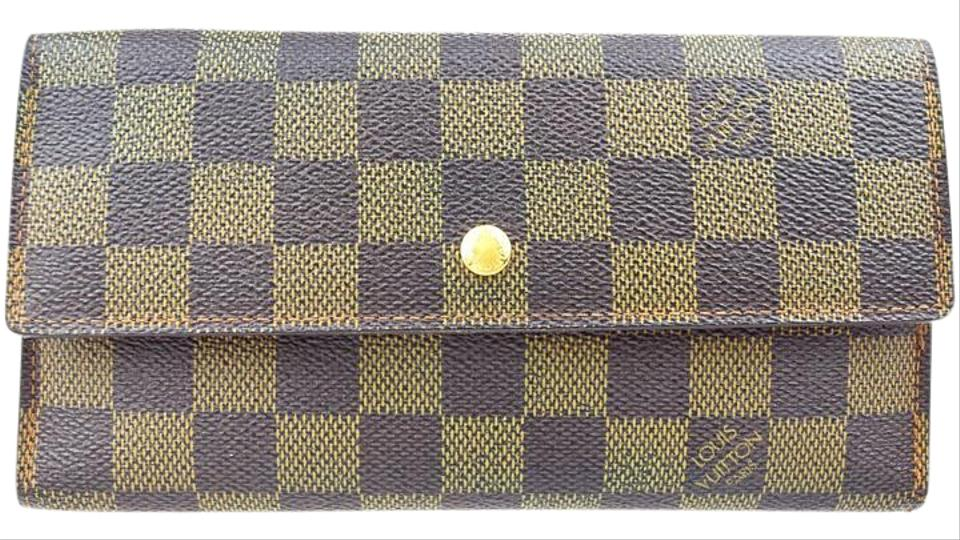 size 40 80b2f 7233c Louis Vuitton International Trifold Damier Leather Bn N61217 Men Clutch  Wallet 56% off retail