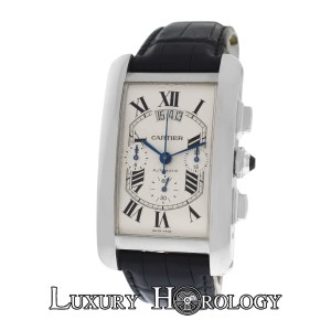 Cartier NOS Cartier Tank Americane XL W2609456 2894 18K Gold Automatic Watch