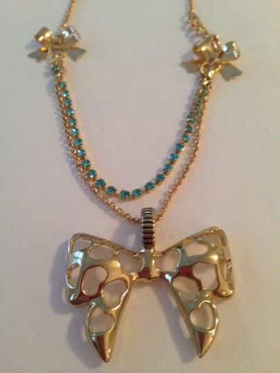 Betsey Johnson Rare Betsey Johnson Bow Necklace (new w/ tag)