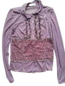 Vero Moda Button Down Shirt purple