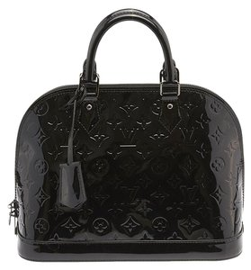Louis Vuitton Alma Pm Noir Magnetique Satchel in Black