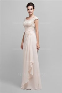 Light Sky Blue A-line/princess Scoop Floor-length Chiffon Mother Of The Bride Dress Dress