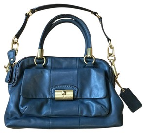Coach Satchel in Teal Aqua Blue