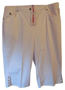 Ruby Rd. Plus-size New With Tags Capris White