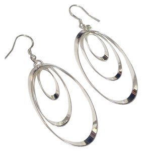 Other New Sterling Silver Hoop Dangle Earrings J2725