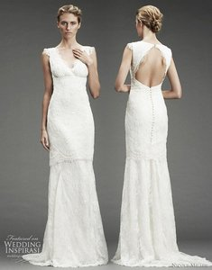 Nicole Miller Bridal Nicole Miller Beaded Lace Gown Bridal Wedding Dress Size 6 Nm9978 $2995 Wedding Dress