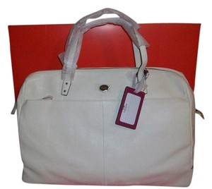 Coach Stunning Ivory/Silver Tone Hardware Travel Bag