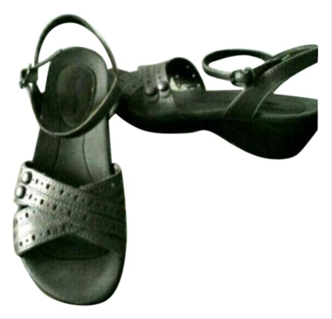 Item - New Pewter Leather Comfy Sandals Size US 7 Regular (M, B)
