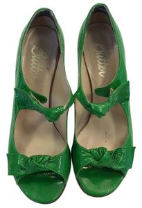 Butter Peep Toe Italian Green Pumps