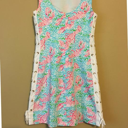 Lilly Pulitzer Multi-Colored Lobstah Roll Delia Dress high-quality