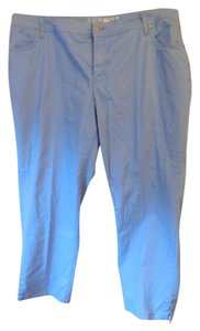 Sonoma Plus-size Modern Fit Ankle Straight Pants Cornflower Blue