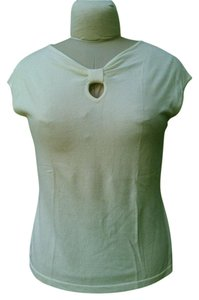 Coldwater Creek Keyhole Knit Sleeveless Top Ivory