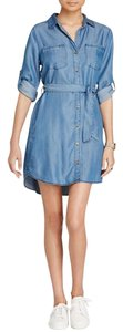 Aqua short dress Chambray on Tradesy