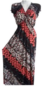 Red & Black Maxi Dress by Summer Maxi Summer Boho