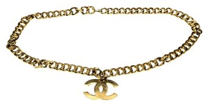 Chanel Chanel Gold Cuban Chain CC Pendant Belt