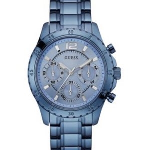 Guess Guess Women's Sky Blue Ion-Plated Stainless Steel Quartz Movement 50 mm Bracelet Watch
