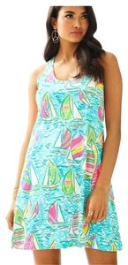 Lilly Pulitzer short dress Blue You Gotta Regatta on Tradesy