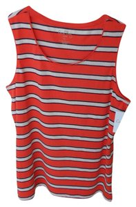 Coral Bay Red & White Striped New With Tag Petite L Top Red white