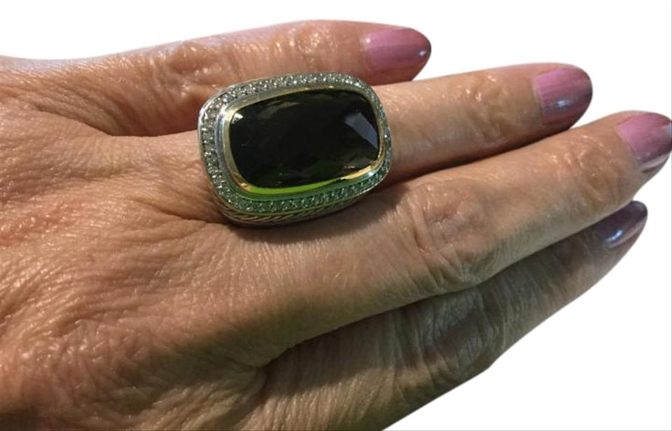 fc79eb88d440a David Yurman Topaz Ring Sterling and Gold with Diamond Bezel 54% off retail