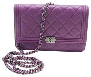 Chanel Purple Le Boy WOC