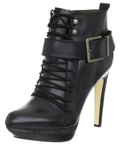 Diesel Leather Bootie Boot Black Platforms