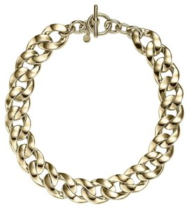 Michael Kors MICHAEL KORS Gold CHUNKY Curb Chain Link Toggle Choker Necklace MKJ3815