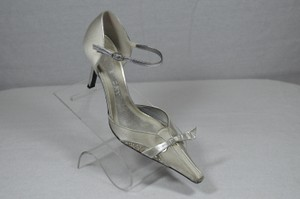Givenchy Satin Formal Silver Pumps