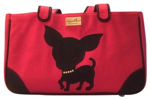 Jeanne Chinn Tote in Black & Red