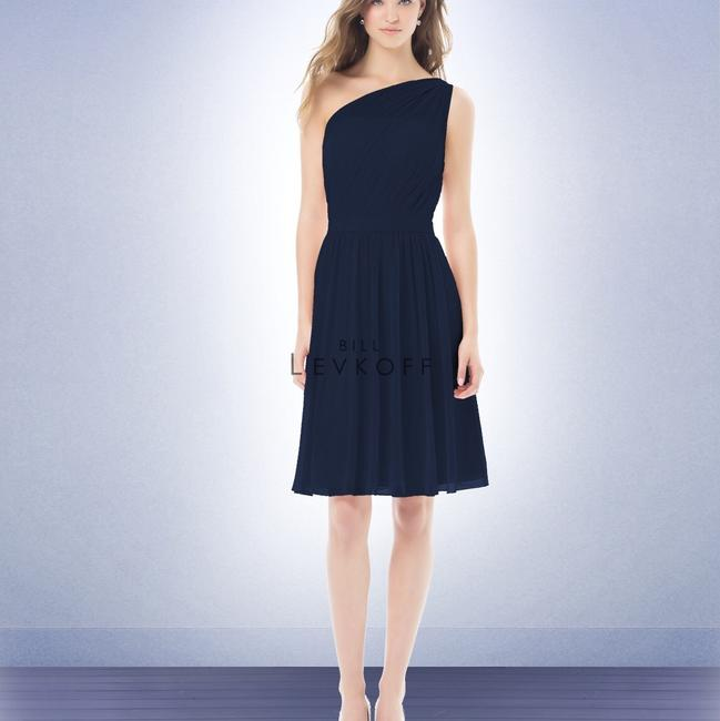 Item - Navy Chiffon 477 Formal Bridesmaid/Mob Dress Size 4 (S)
