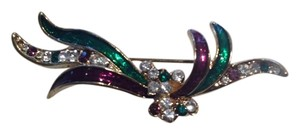 Vintage Inspired Costume Jewelry Brooch Pin