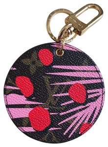 Louis Vuitton Louis Vuitton Monogram Pink Jungle BAG CHARM KEY HOLDER
