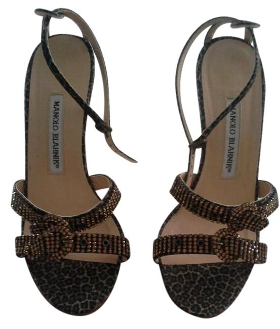 Item - Leopard and Bronze Crystals C/ Trillo 0s105pin Formal Shoes Size US 7.5 Regular (M, B)